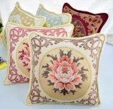 Nouveau design en tissu de coton broderie classique européen Housse de coussin