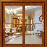 Алюминиевая нутряная раздвижная дверь с решетками внутрь