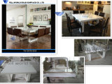 Tabelle lunghe di marmo su ordinazione della sala da pranzo fatte in Cina