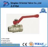 El agua de baja presión de los medios de comunicación y la válvula de bola de latón de 1/2 pulgada.