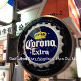 Corona Extra Beer Sign Ad Wall Decor Boîte à lumière LED