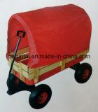 De houten Kar van het Hulpmiddel van de Wagen van de Baby of van de Jonge geitjes van het Wiel van de Lucht van het Dienblad