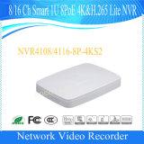 Kabeltelevisie Slim 1u 8poe 4K H. 265 van Dahua 8channel de Videorecorder van het Netwerk van het Toezicht NVR van de Veiligheid (NVR4108-8P-4KS2)
