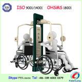 Gli handicappati di Eldly spingono la strumentazione esterna di forma fisica della presidenza