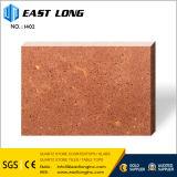 Слябы камня кварца точной частицы скреста упорные серые для конструкции кухни