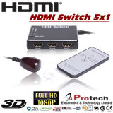 5El puerto HDMI Switch inteligente Mini 5X1