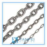 Corrente de ligação padrão inoxidável do aço Nacm84/90