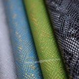Padrão de crocodilo cabedais de couro, Animal Faux PU Leather