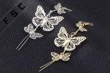 Oorring van de Daling van de Vlinder van de Juwelen van de Douane van de Beelden van de Ontwerpen van de Oorringen van dames de Natuurlijke Buitensporige Holle uit