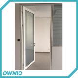 El bastidor de aleación de aluminio puerta batiente de vidrio para la sala de la ICU