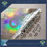 Custom 3D de matériau autocollant Laser permanent argenté