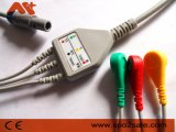 Cable creativo de la una sola pieza ECG con los Leadwires