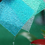 Blad van het Dakwerk van het Blad van het Blad van de diamant het Transparante Polycarbonaat In reliëf gemaakte