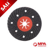Disco abrasivo polivinílico de la aleta de la rueda de la solapa de la amoladora del precio bajo