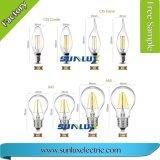 Lampada ad incandescenza della lampada 4W 6W 8W E27 A60 LED del filamento LED