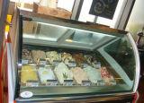 Vitrine en verre / vitrine de crème glacée dure
