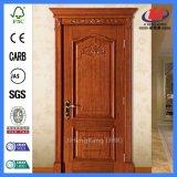 Puertas dobles de madera de la cocina de madera sólida de la teca