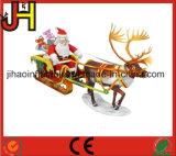 Decoração de Natal insufláveis personalizados, almofada insuflável Santa trenó puxado para venda