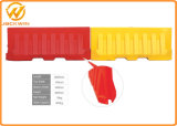Дуть барьер красным/желтому цвету/белизне 2m водоналивной Нью-Джерси пластмассы