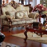 Sofà di legno con la Tabella per la mobilia del salone (697)