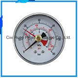 水清浄器の圧力計か二重針の圧力計