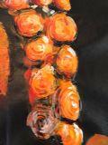 Pitture a olio strutturate Handmade del Buddha su tela di canapa per la Camera