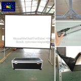 Tela do projetor portátil dobrável do tubo de alumínio resistente