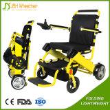 Cadeira de rodas Foldable de pouco peso da energia eléctrica para enfermos