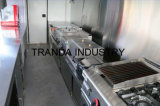 Camion de chariot de cuisine de nourriture de rue de remorque de Scooking de Crepe avec du ce à vendre effectué en Chine