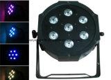 Preiswertes Preis 7X10W RGBW LED dünnes flaches NENNWERT Licht