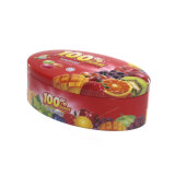 楕円形の形のフルーツ甘いキャンデーの金属の包装の錫