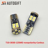 As novas T10 3030 12 LEDs Nonpolarity 12Canbus 3030 SMD Luzes Canbus