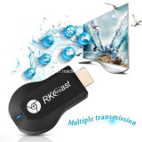 Récepteur d'étalage de WiFi de dongle du dual core 1080P H. 265 Anycast Miracast du bâton Rk3036 de Rkcast TV