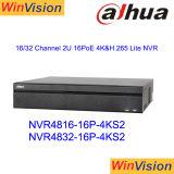 Dahua NVR4832-16p-4ks2 32CH NVR Poe CCTV-Netz-Videogerät