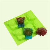 Molde do silicone do urso do leão do hipopótamo das pilhas Sy03-04-012 6 para o sabão