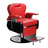 Présidence de coiffeur rouge lourde en cuir piquante de salon de présidence de coiffeur
