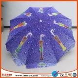 Guarda-chuva do gelado para a promoção e o anúncio do tipo