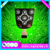 Duración 100, 000 veces el interruptor de membrana táctiles de teclado