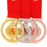 Heart-Shaped 공장 직접 주문 금속은 커트에 의하여 쳐진 스포츠 메달을 정지한다