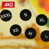 Akoは自己接着ステッカーの衣服のラベルをカスタマイズした