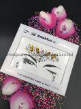2018년 홍콩 황옥 피부 안전한 당 눈 스티커 백색은 장식용 목을 박는다 바디 보석 마스크 Tatto 스티커 (ES003)를