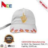 OEM/ODM Nueva deportiva de diseño personalizado 100% algodón blanco gorra de béisbol
