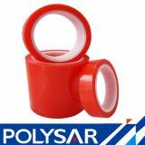 Le double à forte adhésion de polyester a dégrossi bande avec la doublure rouge de film
