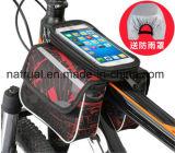 Heißer Verkaufs-Fahrrad-Sattel-Beutel 4.7 Zoll 5.7 Zoll-wasserdichter Bildschirm-Leder-Fahrrad-Rahmen-Beutel