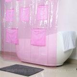 PVC barato cortina de baño con ducha con nuevo diseño personalizado