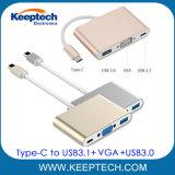 Tipo-c all'ingrosso della fabbrica all'adattatore del VGA USB3.0 con la porta di carico del palladio