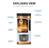 Elegante máquina de venda automática de café em pó instantâneo F303V