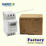Ahc15A 50Hz 24 interruptores do temporizador do trilho do RUÍDO do interruptor de tempo de Digitas da hora