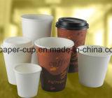 Белая бумага 8 Oz придает форму чашки большой для кофеего, чая, горячего какаа