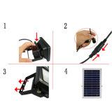 54 lampe imperméable à l'eau de support de mur de mouvement de DEL de détecteur du projecteur PIR de degré de sécurité de lumière solaire extérieure de nuit